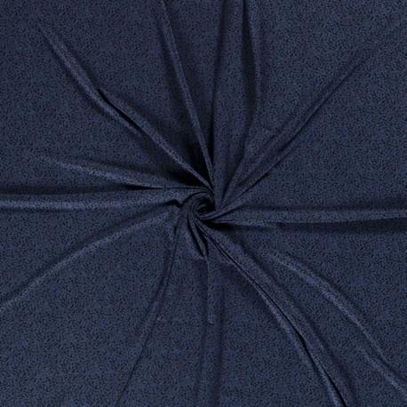 Tissu Jersey Viscose Imprimé Indigo