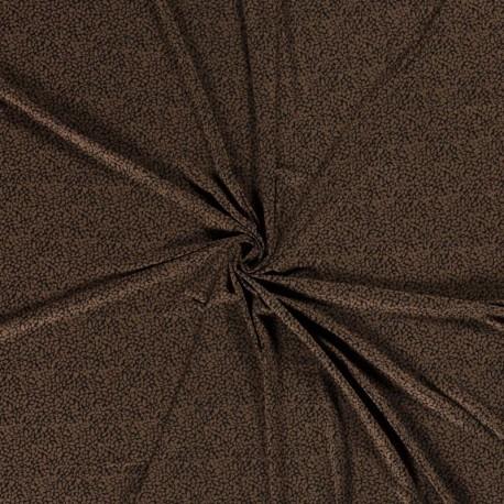 Tissu Jersey Viscose Imprimé Marron