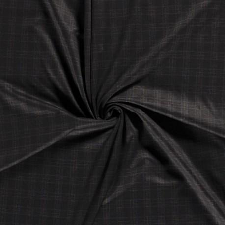 Tissu Milano Ecossais Noir