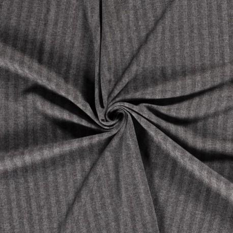 Tissu Chevron Noir