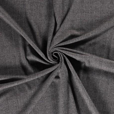 Tissu Ecossais Noir