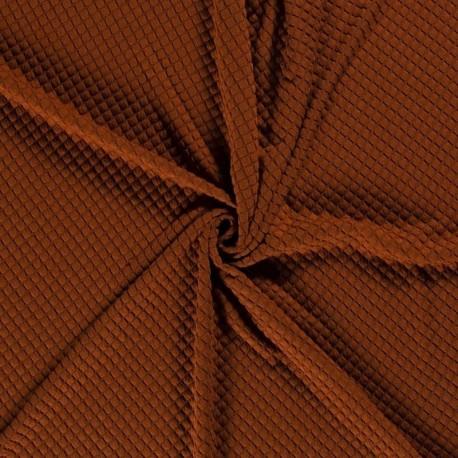Tissu Sweat Bulles Brique