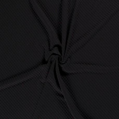 Tissu Sweat Bulles Noir