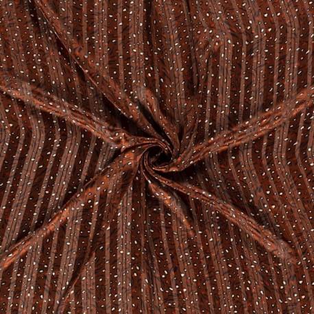 Tissu Imprimé Animaux Brique