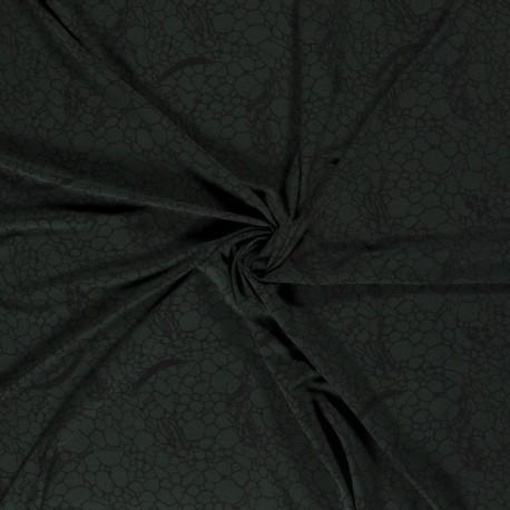 Tissu Crepe Imprimé Vert Foncé
