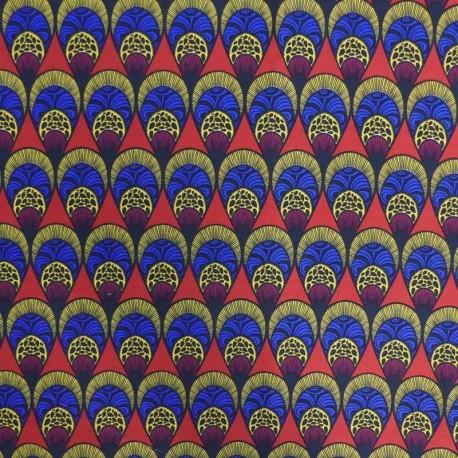 Tissu Cretonne Imprimé Nakura Multicolore