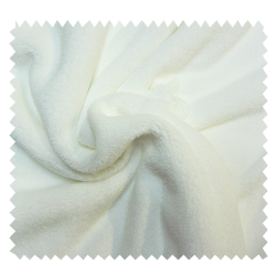 Tissu Microfibre Panda Uni Blanc