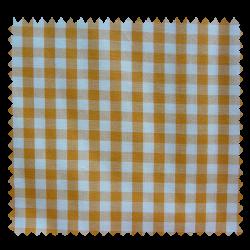 Tissu Vichy Denver Mandarine