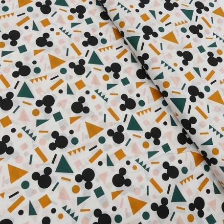 Tissu Cretonne Imprimé Mickey Multicolore