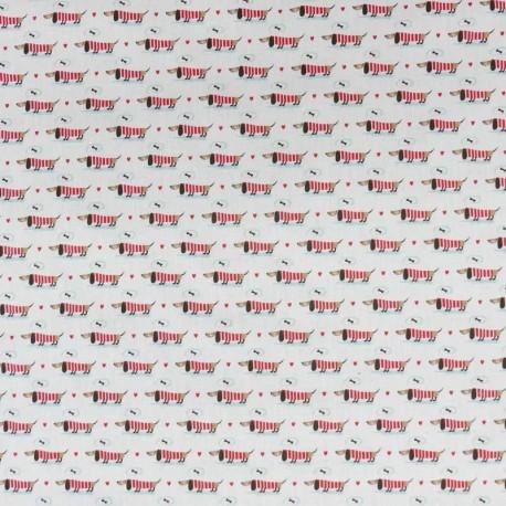 Tissu Popeline Digitale Imprimé Cute Dog