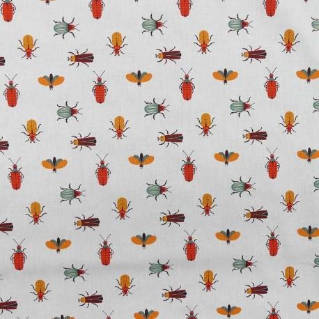 Tissu Popeline Digitale Imprimé Insecto Multicolore