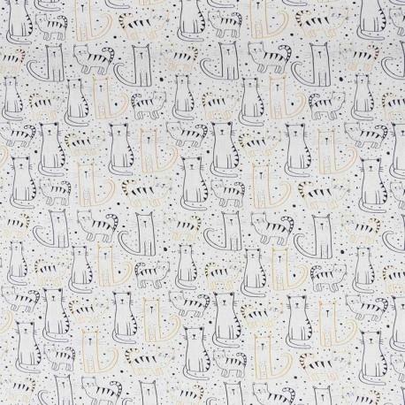 Tissu Popeline Digitale Imprimé Cats