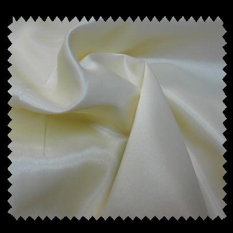 Tissu Doublure Acetate Uni Ecru