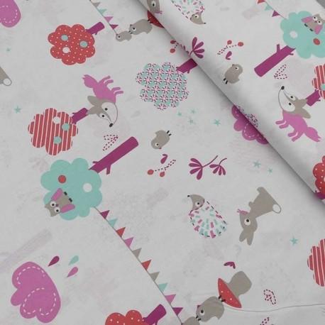 Tissu Coton Imprimé Lapin