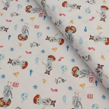 Tissu Coton Imprimé Numerique Infirmier