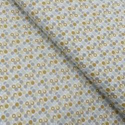 Tissu Coton Imprimé Sweet Spot Vert gris