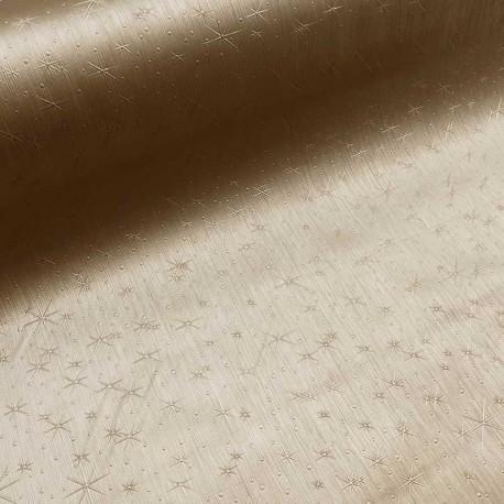 Tissu Toile Cirée Snow Or