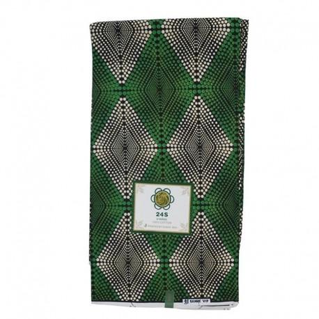 Coupon Style Wax Motifs Géométriques Verts
