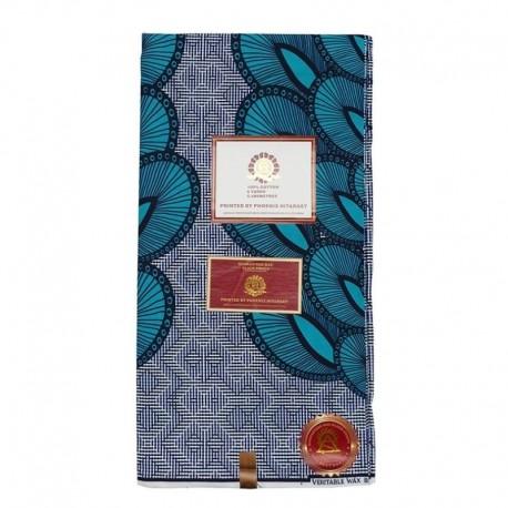 Coupon Style Wax Geometrique Bleu