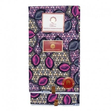 Coupon Style Wax Motif Rose et Violet