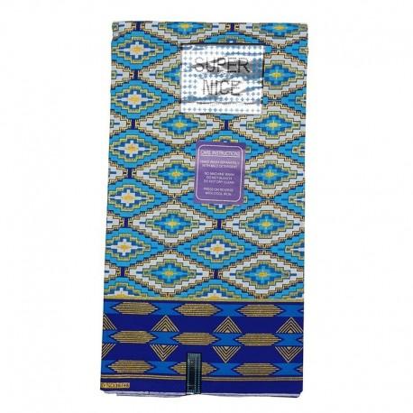 Coupon Super Nice Lurex Motif bleu