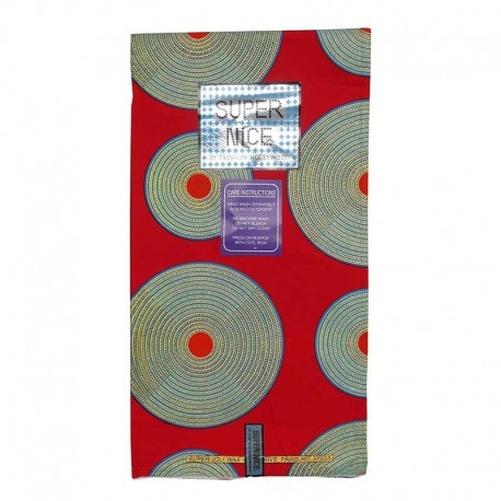 Coupon Super Nice Lurex Rond Fond Rouge