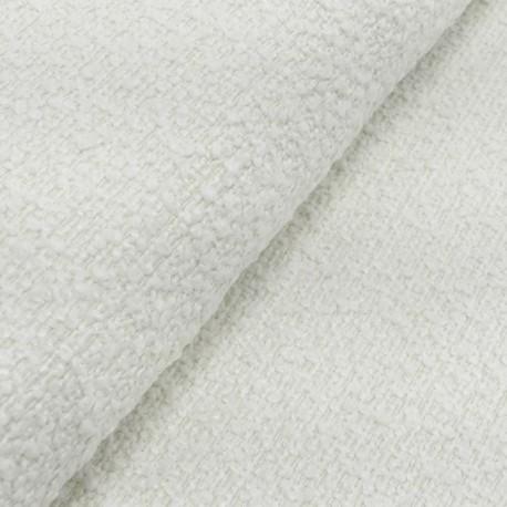 Tissu Bouclette Raisa Blanc