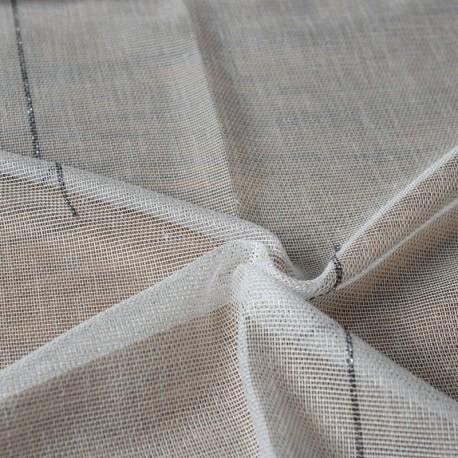 Tissu Voilage Filet Avec Lurex Venezia Noir