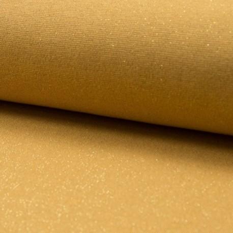 Tissu Bord Cote Uni Lurex Gold