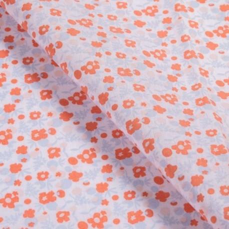 Tissu Coton Imprimé Berry Rose