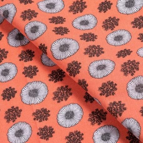 Tissu Coton Imprimé Joy Corail
