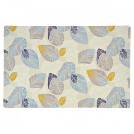 Set de Table Imprimé Anthurium Bleu