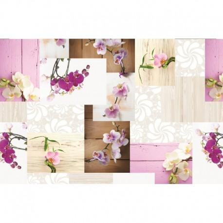 Set de Table Imprimé Laelia Fuchsia