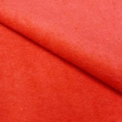 Tissu Velourette Unie Antelina Rouge