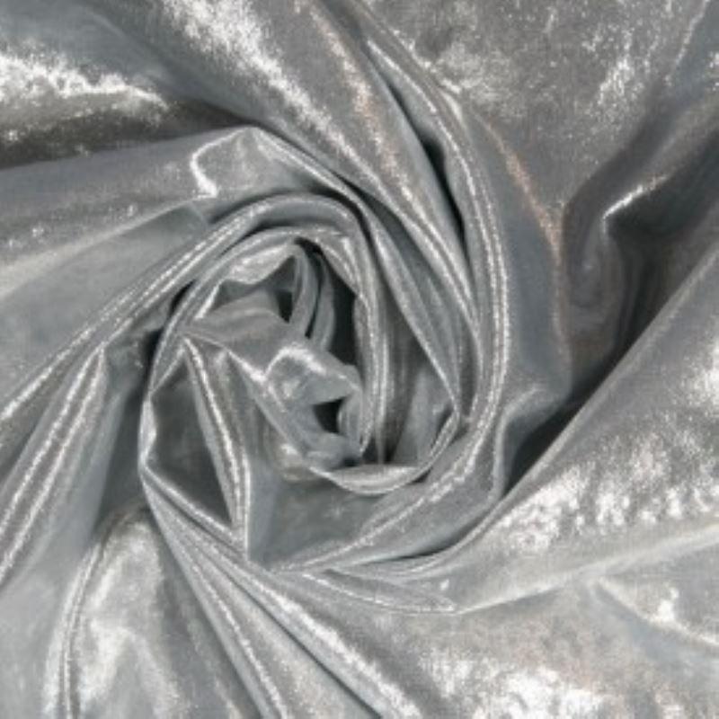 Tissu Laser Argent