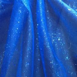 Tulle Paillettes Bleu Roi