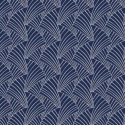 Tissu Franklin Jacquard Bleu