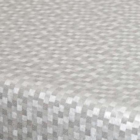 Tissu Toile Cirée Polyline Dijon Blanc