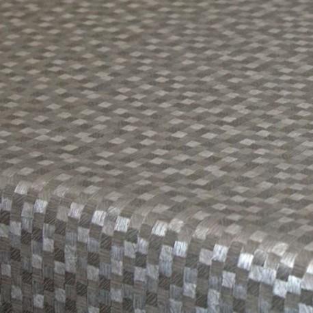 Tissu Toile Cirée Polyline Dijon Argent