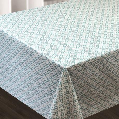 Tissu Toile Cirée Textile Naif Imprimé Bleu