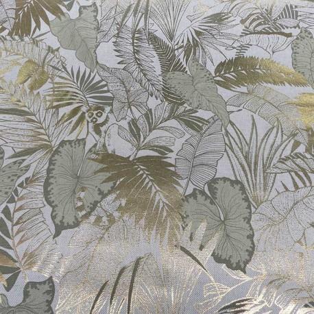 Tissu Toile Ouistiti Foil Vert