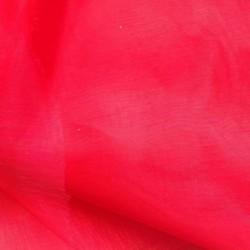 Tissu Organza Nylon Rouge
