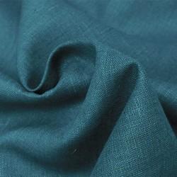 Tissu Lin Bouddha Uni Bleu
