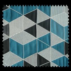 Tissu Jacquard Arletty Triangle Bleu Sombre