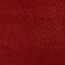 Tissu Suédine Lourde Doudou Rouge