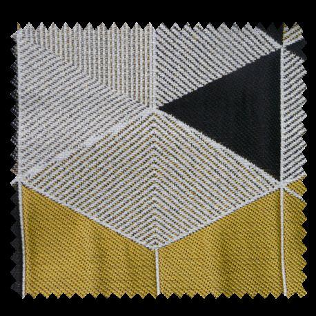 Tissu Jacquard Arletty Triangle Jaune