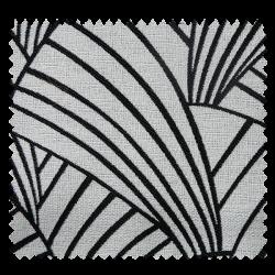 Tissu Jacquard Ardeco Géométrie Noir Et Blanc