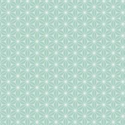 Tissu Fuji Imprimé Menthe