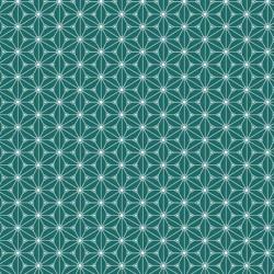 Tissu Fuji Imprimé Emeraude