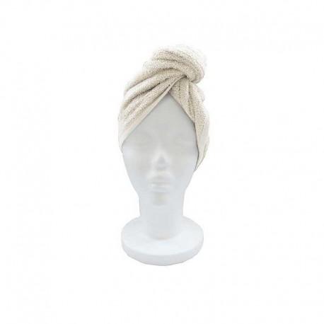 Serviette Sèche Cheveux Laura Taupe